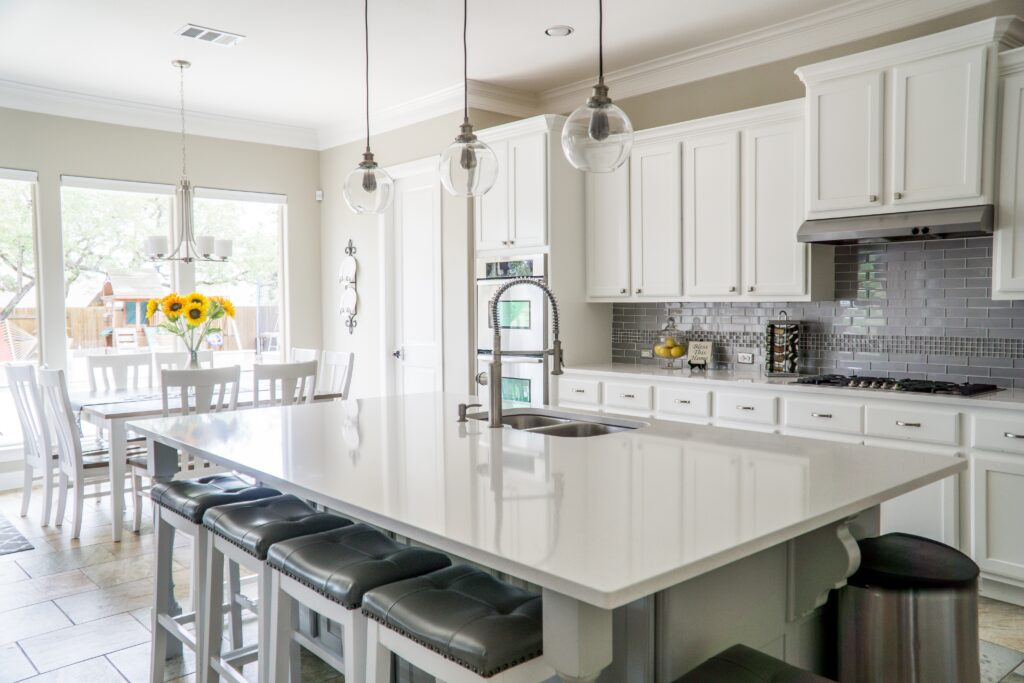 Home insurance should cover the features of your home, like your kitchen finishes.